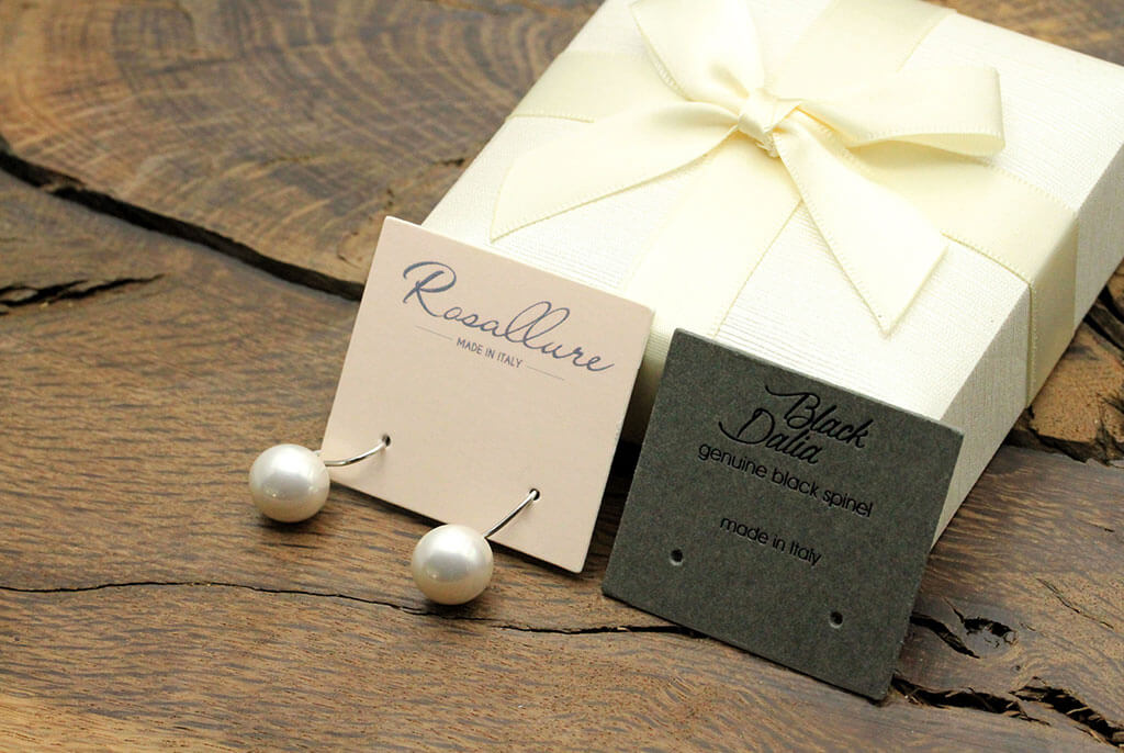 earring holder labels for jeweller